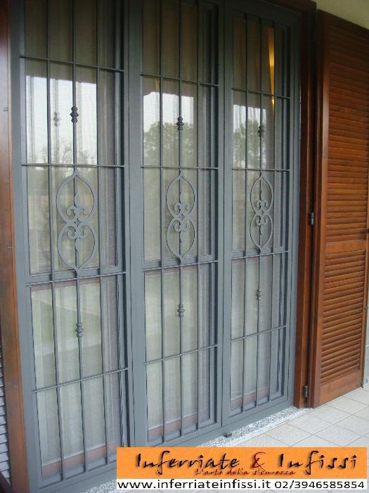 Inferriate infissi fabbro lavorazione ferro rozzano - Inferriate per finestre milano ...