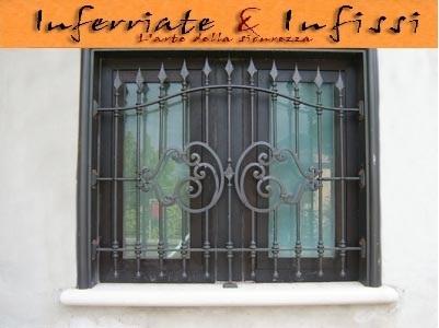 Inferriate gaia fissa inferriate infissil fabbro lavorazione ferro cernusco sul - Inferriate per finestre milano ...